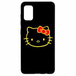 Чехол для Samsung A41 Hello Kitty logo
