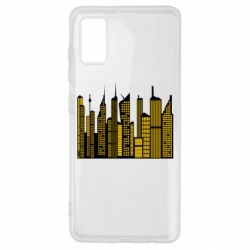 Чехол для Samsung A41 High-rise buildings silhouette