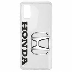 Чехол для Samsung A41 Honda 3D Logo