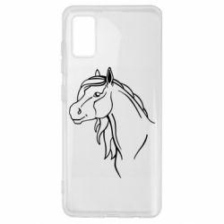 Чехол для Samsung A41 Horse contour