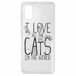 Чехол для Samsung A41 I Love all the cats in the world