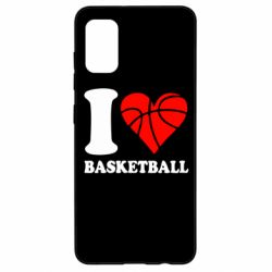 Чехол для Samsung A41 I love basketball