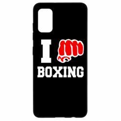 Чехол для Samsung A41 I love boxing