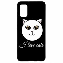 Чохол для Samsung A41 I love cats art