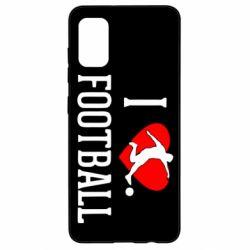 Чохол для Samsung A41 I love football