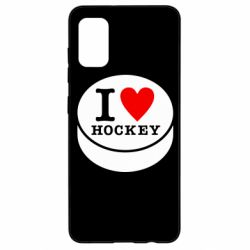 Чохол для Samsung A41 I love hockey