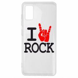 Чехол для Samsung A41 I love rock