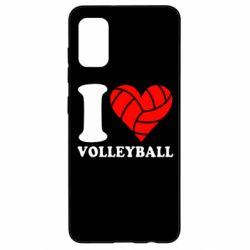 Чохол для Samsung A41 I love volleyball