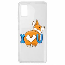 Чехол для Samsung A41 I love you corgi