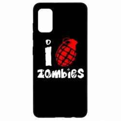 Чехол для Samsung A41 I love zombies