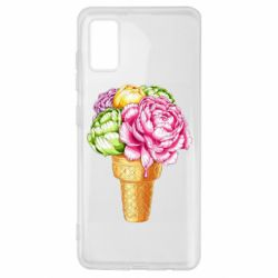 Чохол для Samsung A41 Ice cream flowers