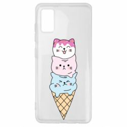 Чехол для Samsung A41 Ice cream kittens