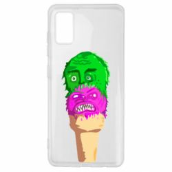 Чехол для Samsung A41 Ice cream with face