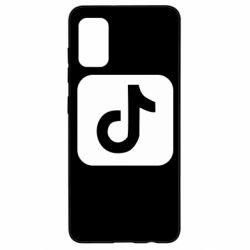 Чехол для Samsung A41 Иконка тик ток