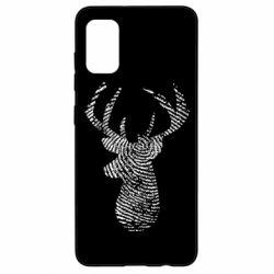 Чохол для Samsung A41 Imprint of human skin in the form of a deer
