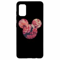 Чохол для Samsung A41 Inner world flowers mickey mouse