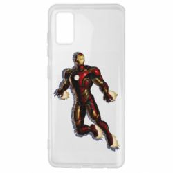Чехол для Samsung A41 Iron man with the shadow of the lines