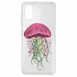 Чехол для Samsung A41 Jellyfish and flowers