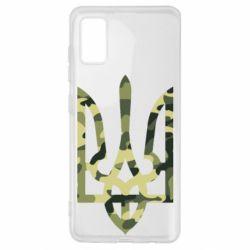 Чехол для Samsung A41 Камуфляжный герб Украины