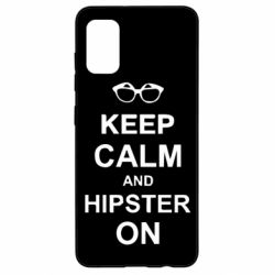 Чехол для Samsung A41 Keep calm an hipster on
