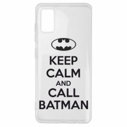 Чехол для Samsung A41 KEEP CALM and CALL BATMAN