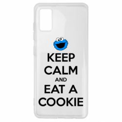 Чехол для Samsung A41 Keep Calm and Eat a cookie
