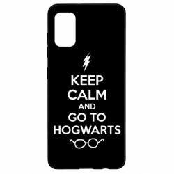 Чехол для Samsung A41 KEEP CALM and GO TO HOGWARTS