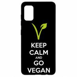 Чехол для Samsung A41 Keep calm and go vegan