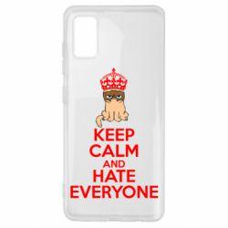 Чехол для Samsung A41 KEEP CALM and HATE EVERYONE