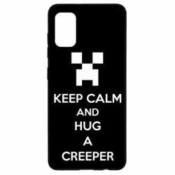 Чехол для Samsung A41 KEEP CALM and HUG A CREEPER