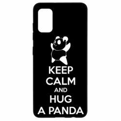 Чохол для Samsung A41 KEEP CALM and HUG A PANDA
