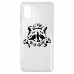 Чохол для Samsung A41 Keep calm and hug a raccoon