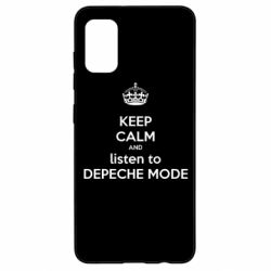 Чехол для Samsung A41 KEEP CALM and LISTEN to DEPECHE MODE