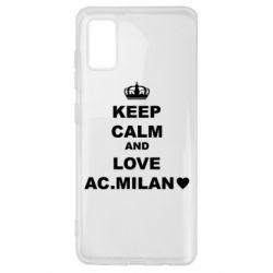 Чохол для Samsung A41 Keep calm and love AC Milan