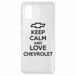 Чохол для Samsung A41 KEEP CALM AND LOVE CHEVROLET