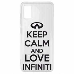 Чехол для Samsung A41 KEEP CALM and LOVE INFINITI