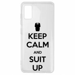 Чехол для Samsung A41 Keep Calm and suit up!