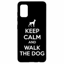 Чохол для Samsung A41 KEEP CALM and WALK THE DOG
