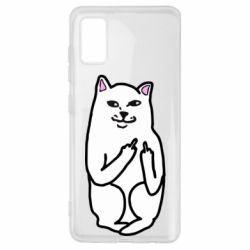 Чехол для Samsung A41 Кот с факом