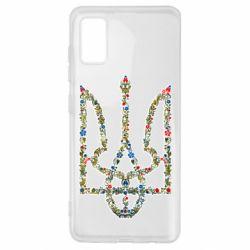Чехол для Samsung A41 Квітучий герб України