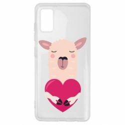 Чохол для Samsung A41 Lama with heart