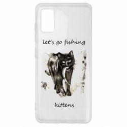 Чехол для Samsung A41 Let's go fishing  kittens