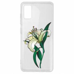 Чохол для Samsung A41 Lily flower