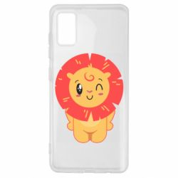 Чехол для Samsung A41 Lion with orange mane