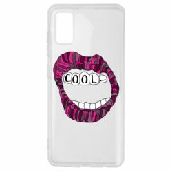 Чохол для Samsung A41 Lips with the words cool