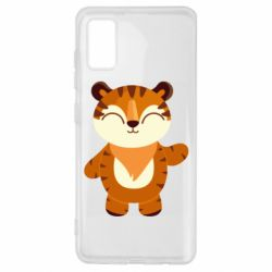 Чехол для Samsung A41 Little tiger with a smile