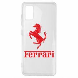 Чехол для Samsung A41 логотип Ferrari