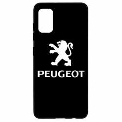 Чехол для Samsung A41 Логотип Peugeot