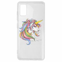 Чохол для Samsung A41 Кінь з кольоровою гривою