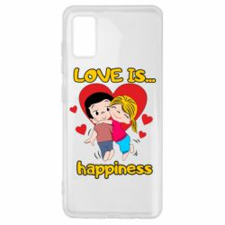 Чохол для Samsung A41 love is...happyness